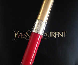 red, YSL, and beauty image