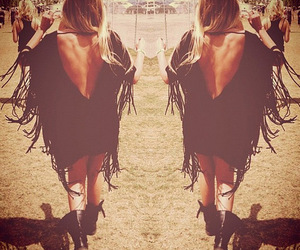 hippie, black, and festival image