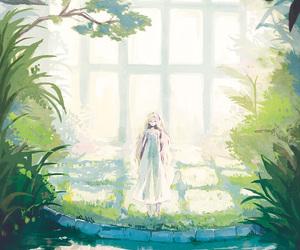 anime, girl, and spring image