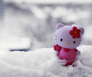 hello kitty, cute, and snow image