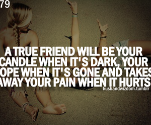 quote, friends, and true friend image