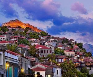 Greece, Island, and mythical image