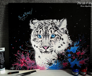 art, draw, and leopard image