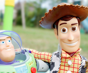 toy story, buzz, and woody image