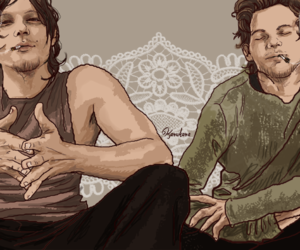 fanart, norman reedus, and louis tomlinson image