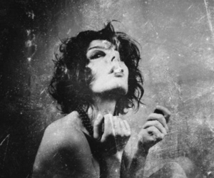 black and white, grunge, and smoke image