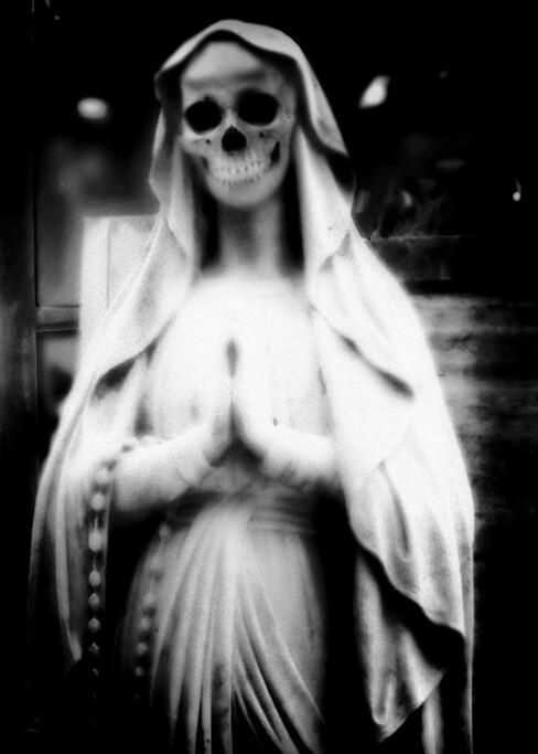 art, horror, and skeleton image