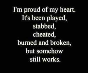 heart, broken, and proud image