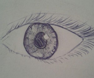 pencil, painting, and eye image