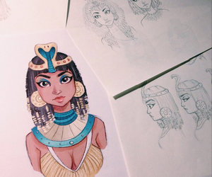 cleopatra, drawing, and itslopez image