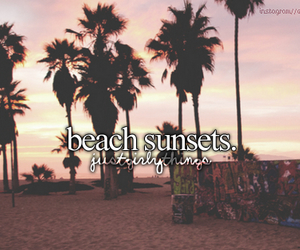 beach, sunset, and quote image