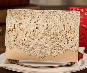 craft, lace, and invitation image