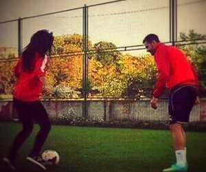 couple, cute, and football image