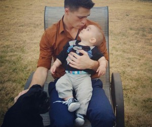 colton haynes, baby, and teen wolf image