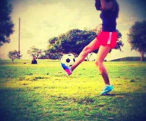 football, girl, and style image
