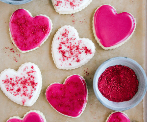 food, dessert, and pink image