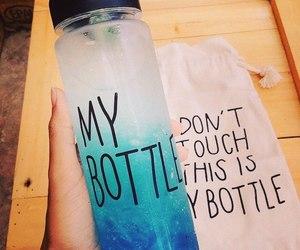 blue, my bottle, and bottle image