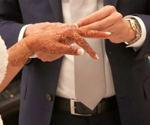 henna, ring, and couple image