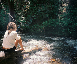 girl, nature, and river image