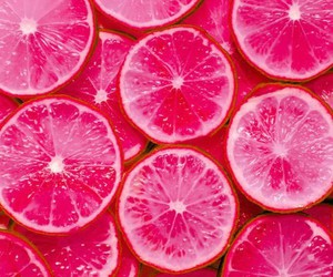 pink, lemon, and fruit image
