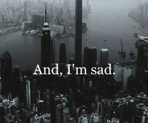 sad, black, and city image