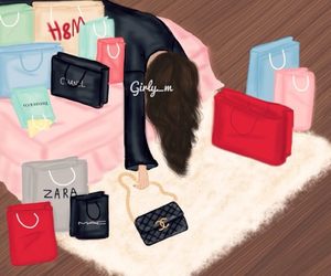 shopping, girly_m, and drawing image