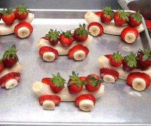 banana, strawberry, and food image