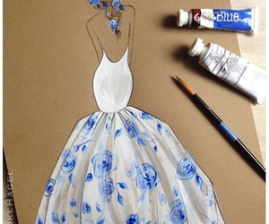 dress, art, and drawing image