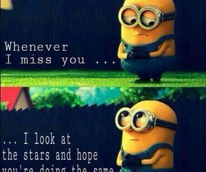 lovers, i miss you, and minions image