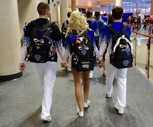 best friends, ca, and cheer image