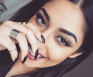 girl, nails, and makeup image