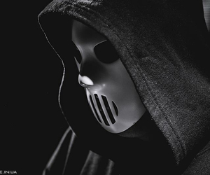 black&white, mask, and song image