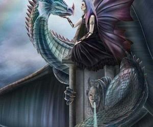 art, dragon, and fantasy image
