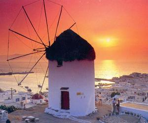 summer, sunset, and Greece image