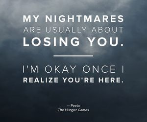 peeta, quotes, and the hunger games image