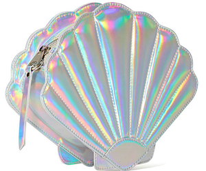 bag, holographic, and mermaid image