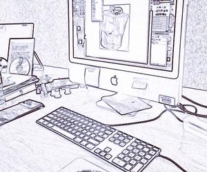 apple, art, and work image
