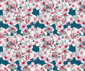 fabric, floral, and illustration image