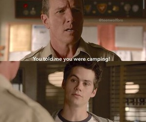 camping, funny, and teen wolf image