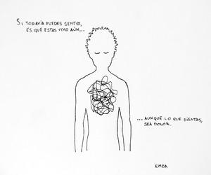 dibujo, frases, and vida image