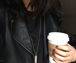 fashion, black, and coffee image