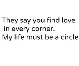 love, life, and circle image