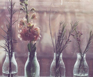 flowers and bottle image
