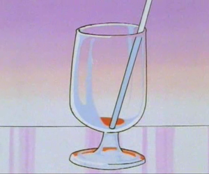 anime, straw, and drink image