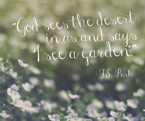faith, beauty, and garden image