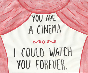 cinema, text, and love image