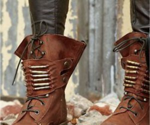boots, cuir, and shoes image