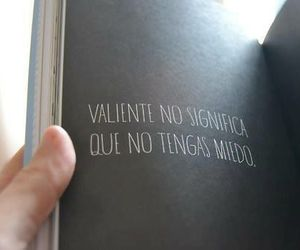 book, valiente, and frases image