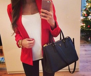 fashion, style, and red image