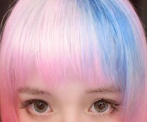 blue, hair, and Harajuku image